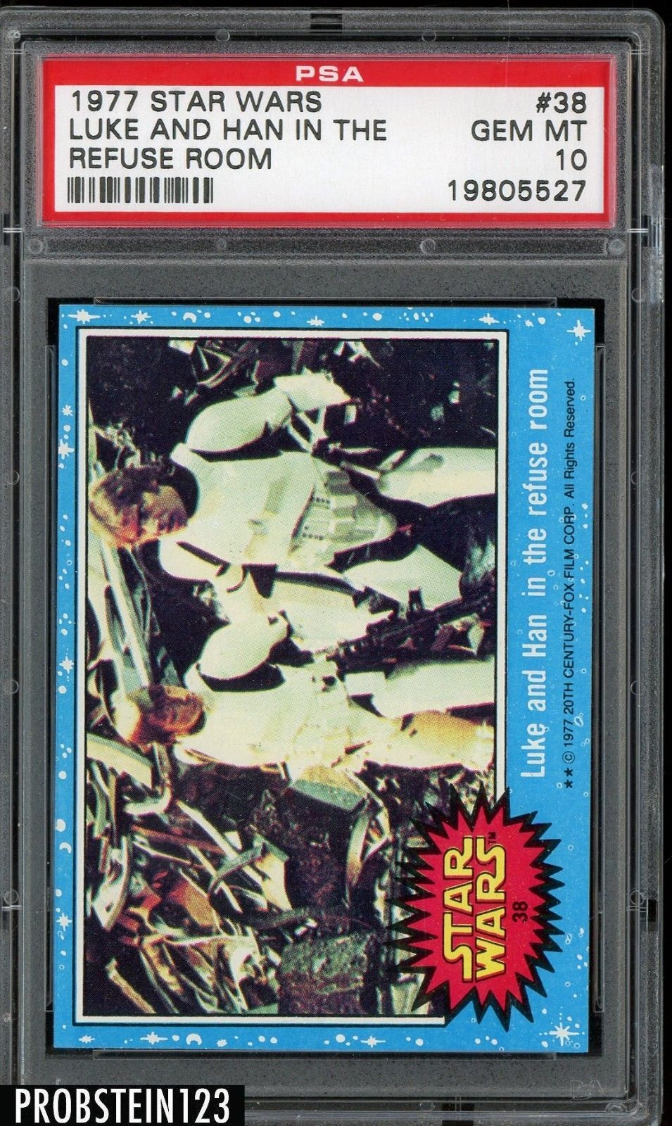 1977 topps star wars setbreak 38 luke and han in the