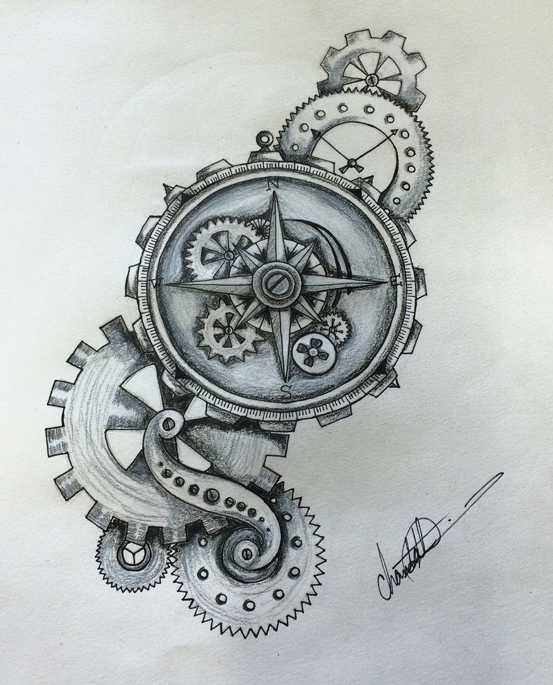 0d3301122 Steampunk Compass by Shaza719 … | Compass Rose | Compa…