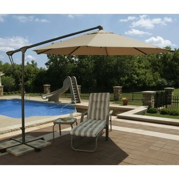 $599 Costco Cantilever Octagonal 10 Ft. Umbrella With Crossarm Stand