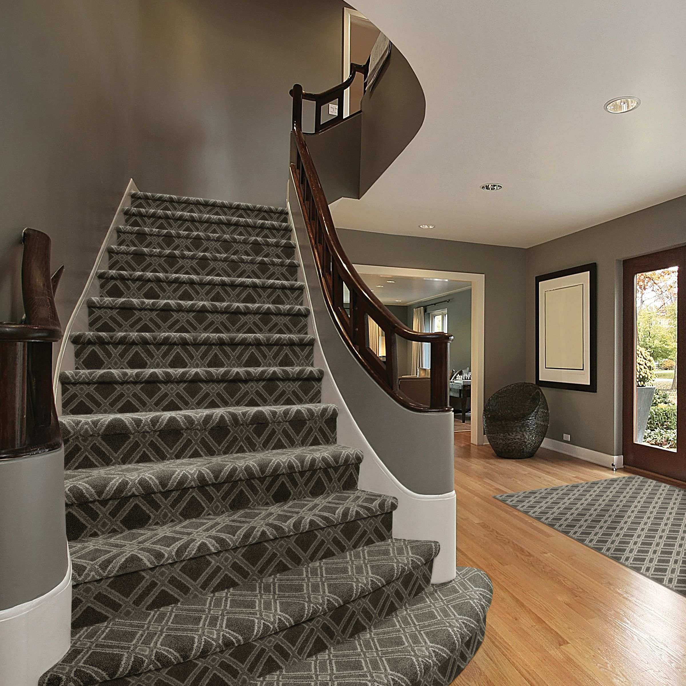 Best Versailles Simply Taupe Staircase Carpet Runner 400 x 300