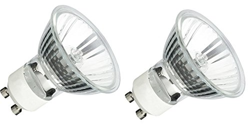 2pack Gu10 120v 50w Mr16 Q50mr16 50 Watts Jdr Halogen Bulb Lamp Amazon Com Halogen Bulbs Bulb Halogen