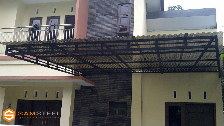 rangka atap baja ringan untuk teras project renovasi rumah dan desain