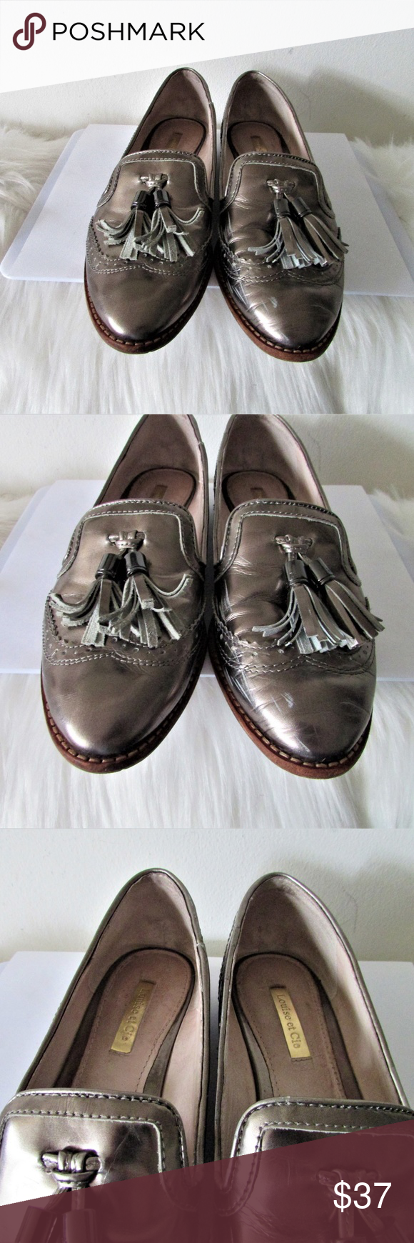ddaf1fca314 Louis et Cie Lo-Joey silver patent loafers 7.5 M leather upper please note  scuffs throughout Louis et Cie Shoes Flats   Loafers
