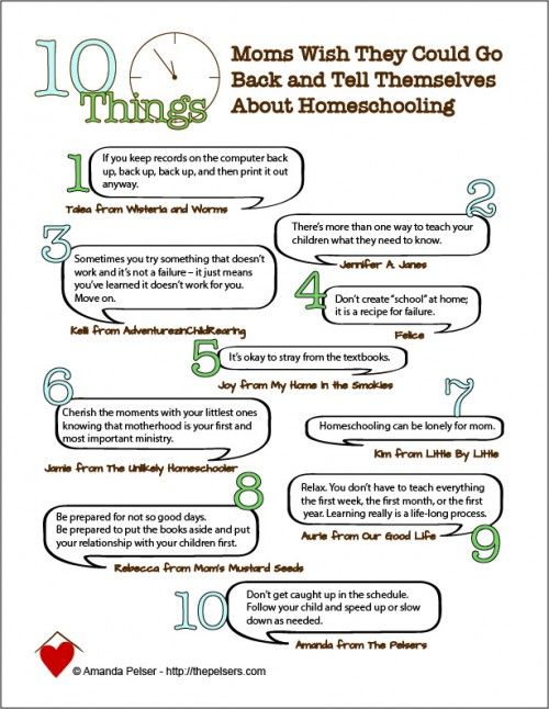 10 Things Moms Wish They Could Go Back and Tell Themselves About #Homeschooling