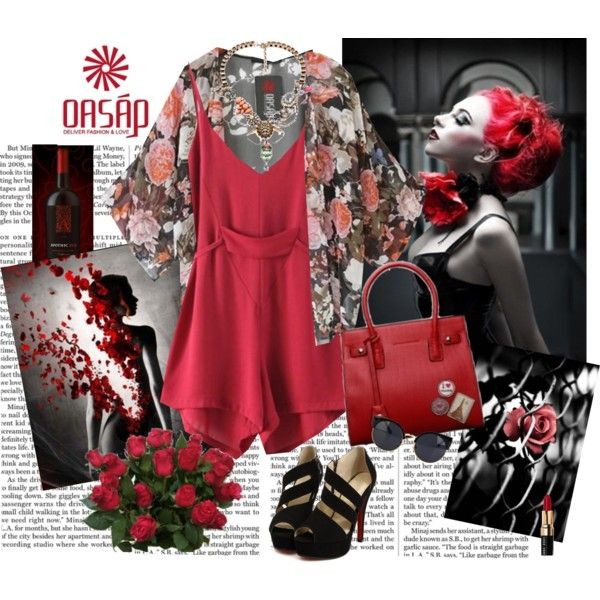 Oasap.... Red roses.... by carola-corana on Polyvore featuring Bobbi Brown Cosmetics, Nicki Minaj, vintage and oasap