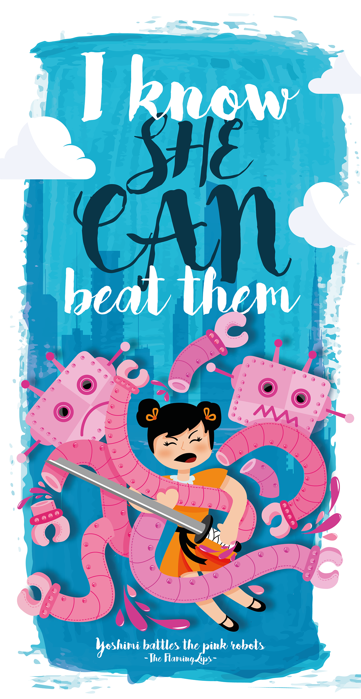 Check Out My Behance Project Yoshimi Battles The Pink Robots The Flaming Art Classroom Flaming Lips Battle