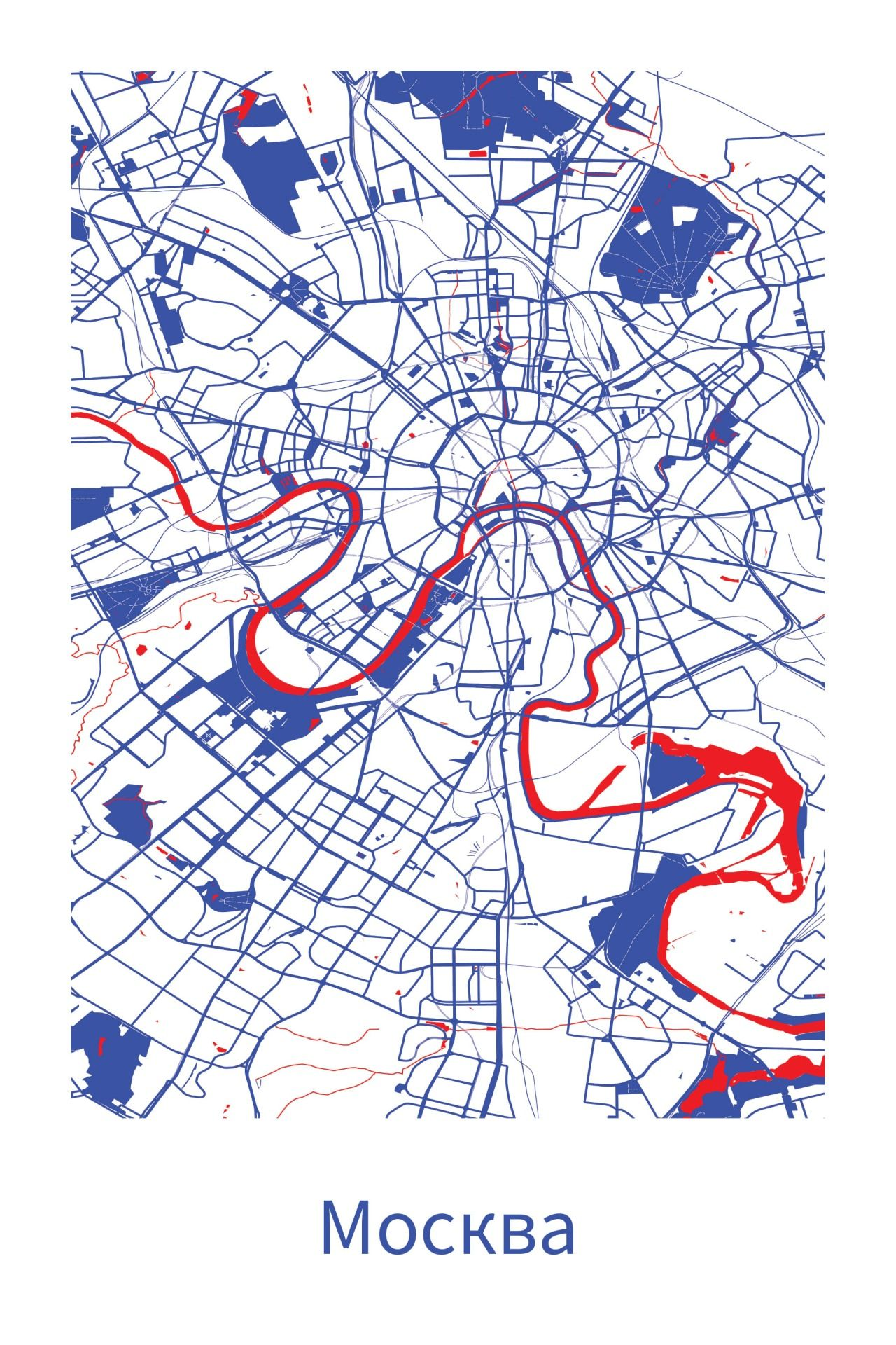Cool Map Of Moscow Source R