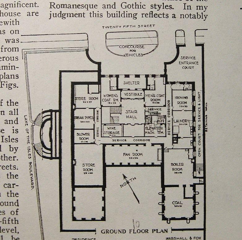 Old Westbury Gardens Floor Plan: Gates Mansion, Lower Level. Mpls, MN