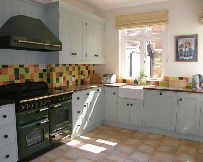 Swell Photo Of Green Kitchen With Belfast Sink Flooring Harlequin Beutiful Home Inspiration Xortanetmahrainfo