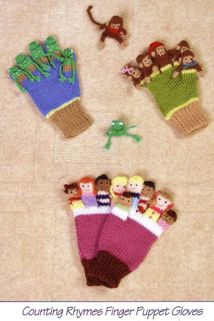 Knitting Pattern For Counting Rhymes Finger Puppet Gloves Makes