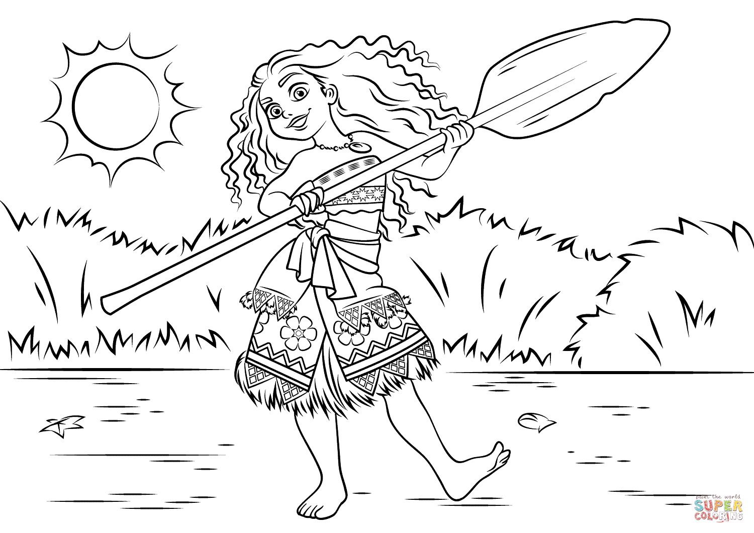 Princess Moana Waialiki Super Coloring Coloring pages
