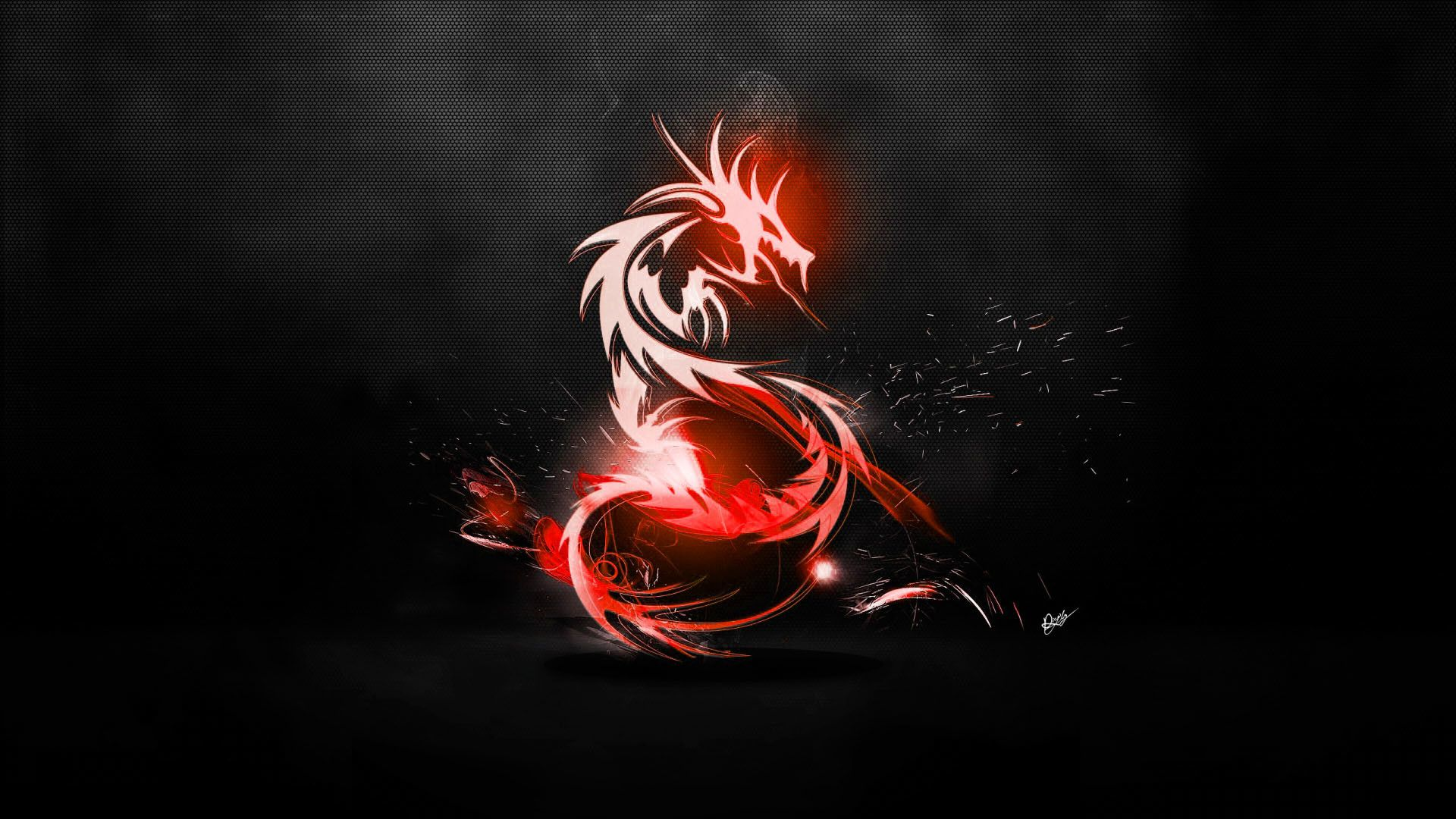 1920x1080 Red Dragon Black Abstract High Definition