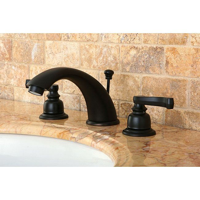 This oil rubbed bronze bathroom faucet brings sophisticated style to ...
