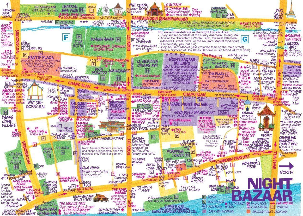 Nancy Chandlers Map of Chiang Mai 21st Edition Amazoncouk Nima