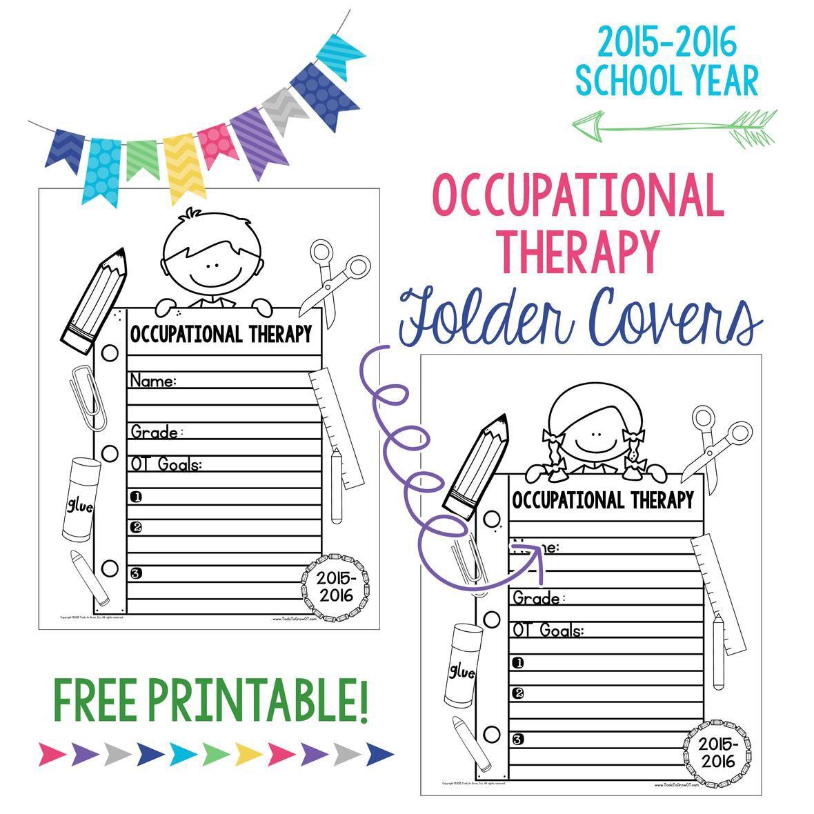 Free Ot Student Folder Covers