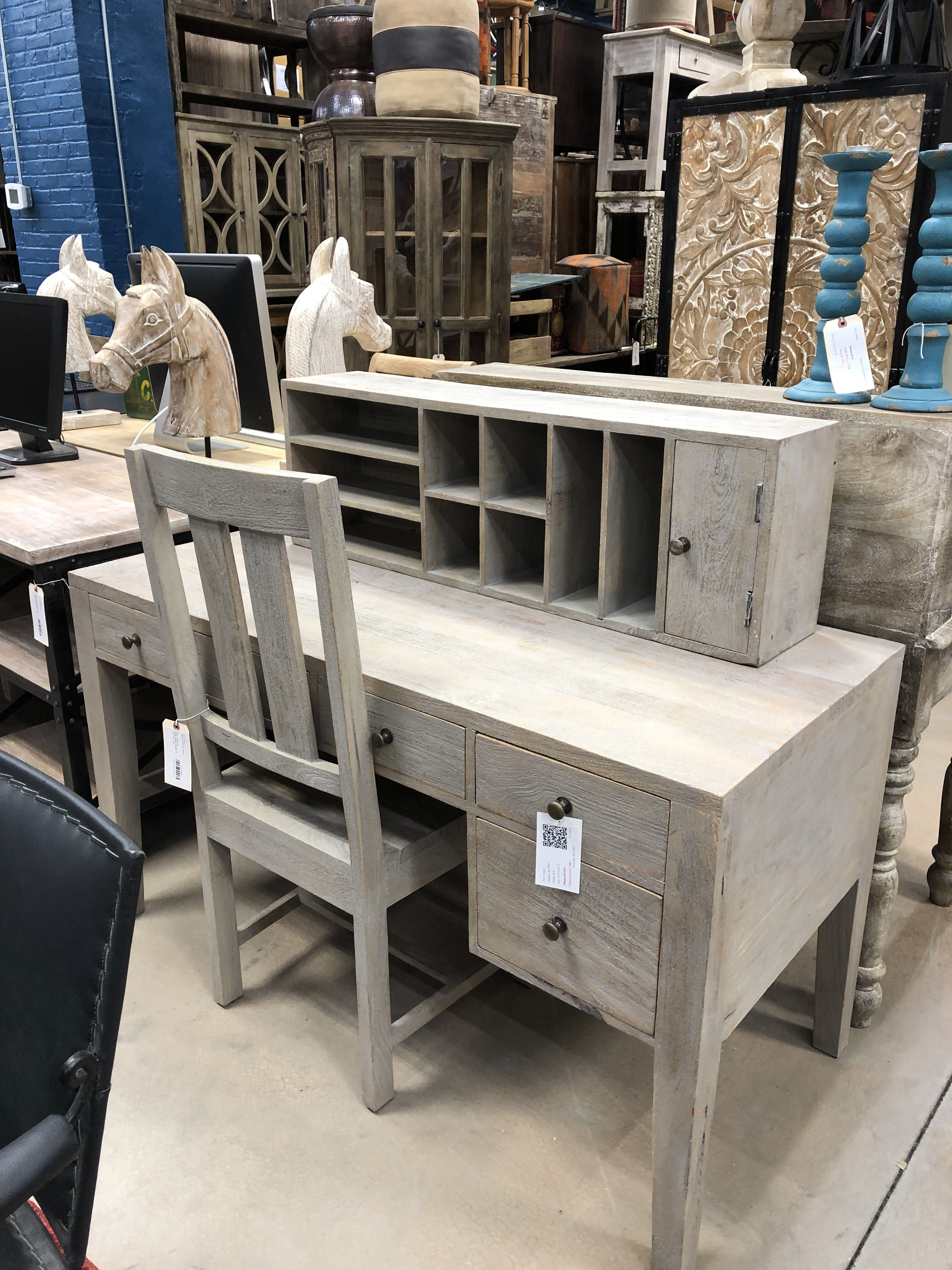 Solid Wood Desk  Rustic wood furniture, Solid wood desk