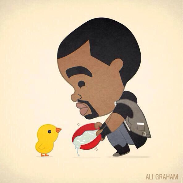 Kanye and a thirsty chick
