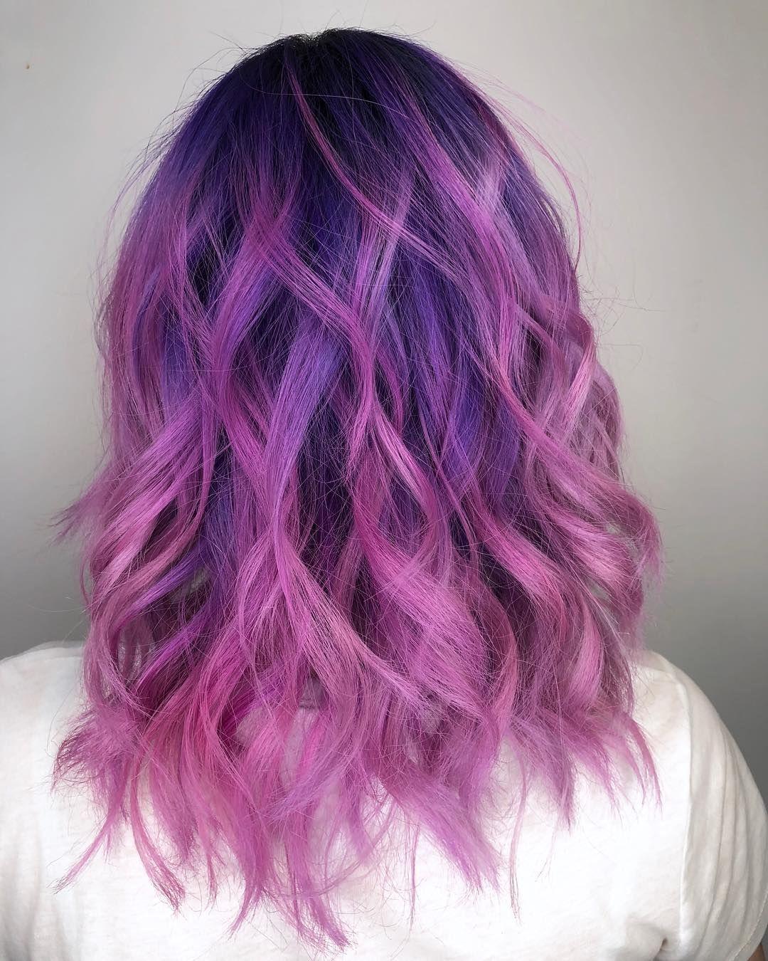 @fameho0ker On Instagram 💜 Purple Hair 💜 #hairdye #hair