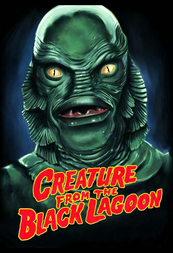 THE CREATURE FROM THE BLACK LAGOON Halloween my favorite scary
