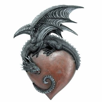 Dragon Heart Wall Plaque: Dragon Gifts: FairyGlen.com