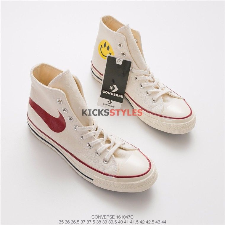 Converse/Nike/Chinatown Market Swoosh Smiley Face Chuck ...