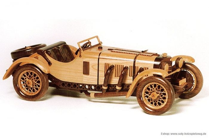 Mercedes Benz SSKL SPORT (1931) wooden modell  - Wooden natural toys, cars and aircraft models, angels, jewerly boxes