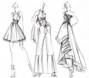 designer fashion sketches | Croquis | Pinterest | Fashion design ...