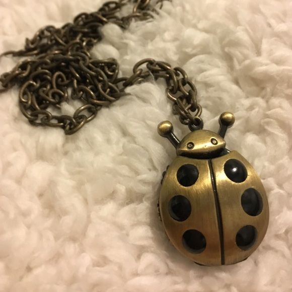 Necklace, 20 inches, ladybug Ladybug necklace, doubles as a watch, 20 inches long and totally adorable. This necklace does need a battery if you want to tell time but everybody has an iPhone, so really who needs to tell time? LOL Accessories Watches