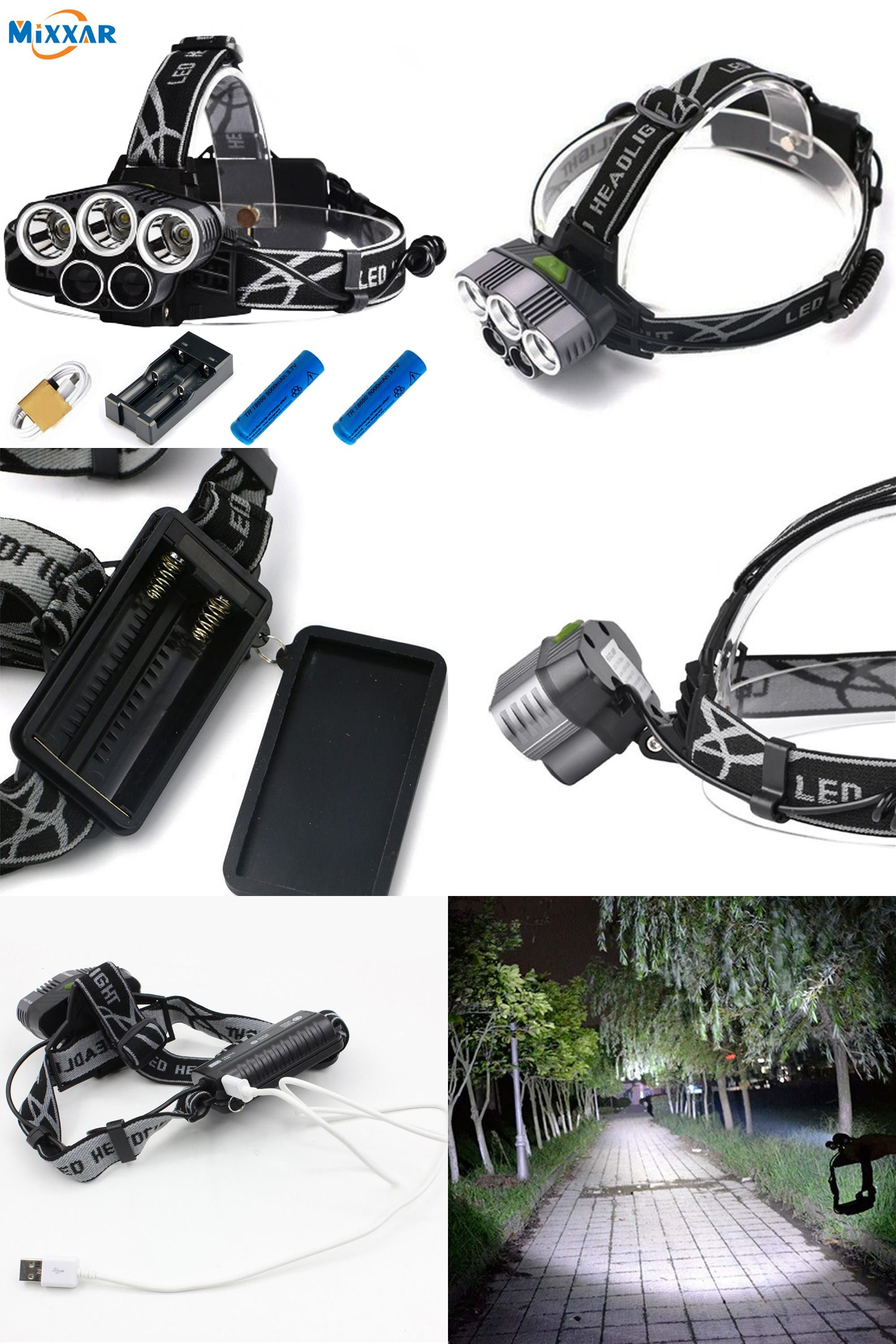 Visit To Buy Ru Cree 3xml T6 White 2xpe Blue Led Headlamp 15000lm Led Torch Headlight 5 Mode Head Lamp For Hunting Fishing Outdoor With Images Led Headlamp Headlamp Cree