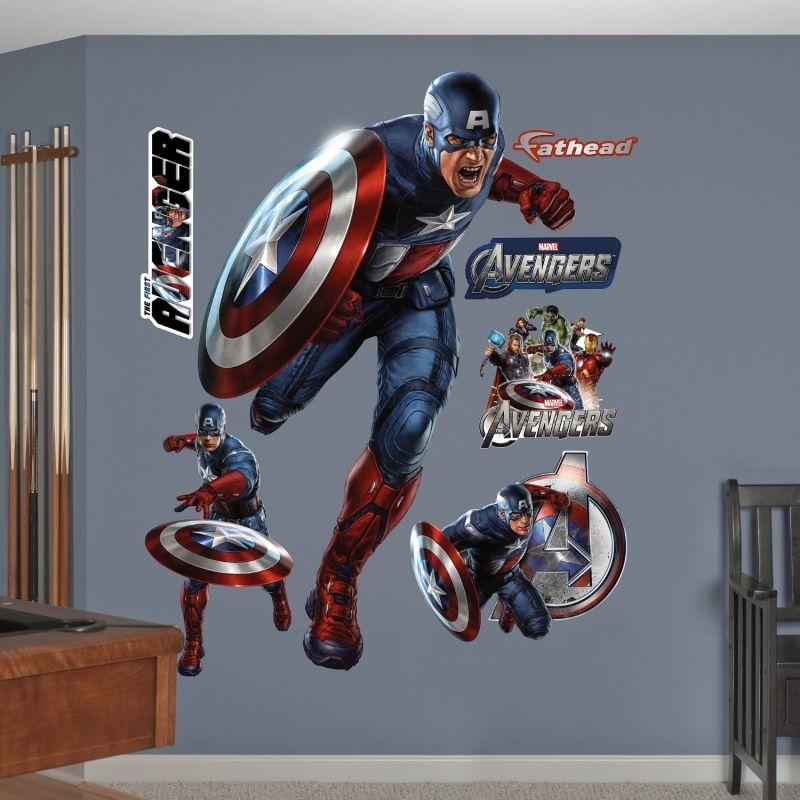 Unique Batman Vs Superman Bedroom Ideas That Rock: FATHEAD The First Avenger Graphic Wall Decor