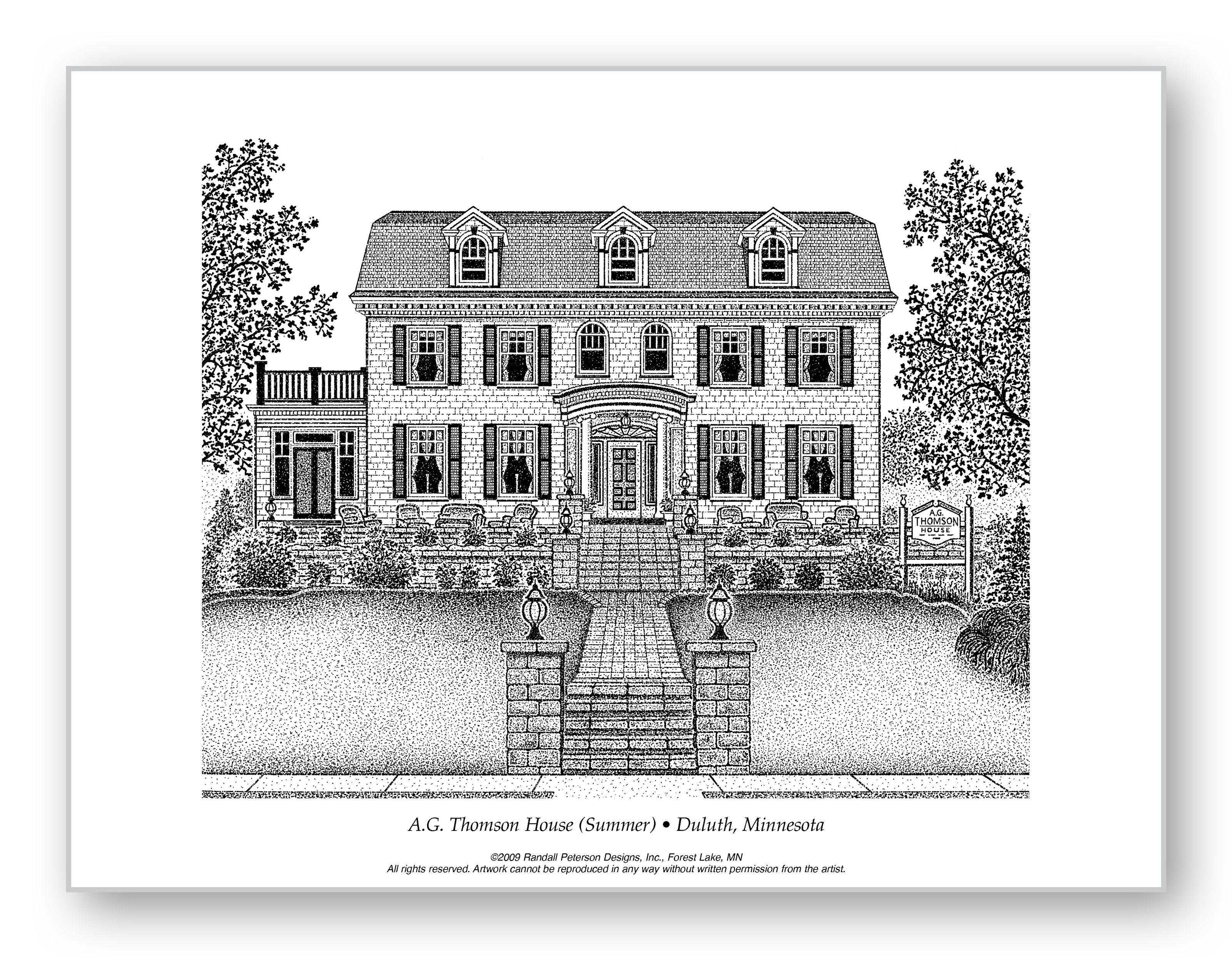 A.G. Thomson House (Summer). An historic bed and breakfast