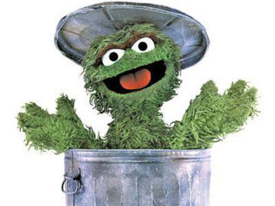 Oscar The Grouch Green Verde Oscar The Grouch
