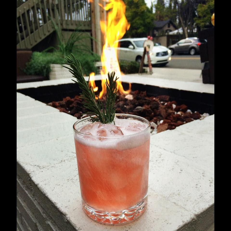 Fireside cocktail at Bardot in Claremont, Ca.