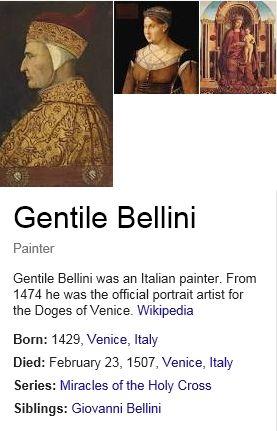Bellini Nürnberg bellini gentile early renaissance ca 1429 1507 note