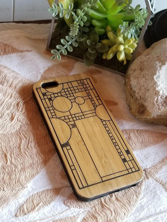 Frank Lloyd Wright bamboo wood iPhone case iPhone 6, iPhone 6s, iPhone 6 plus, iPhone 7, iPhone 7 plus, iPhone 8, iPhone 8 plus, iPhone X