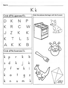 Letter K Worksheets  Alphabet Phonics Worksheets More Letters