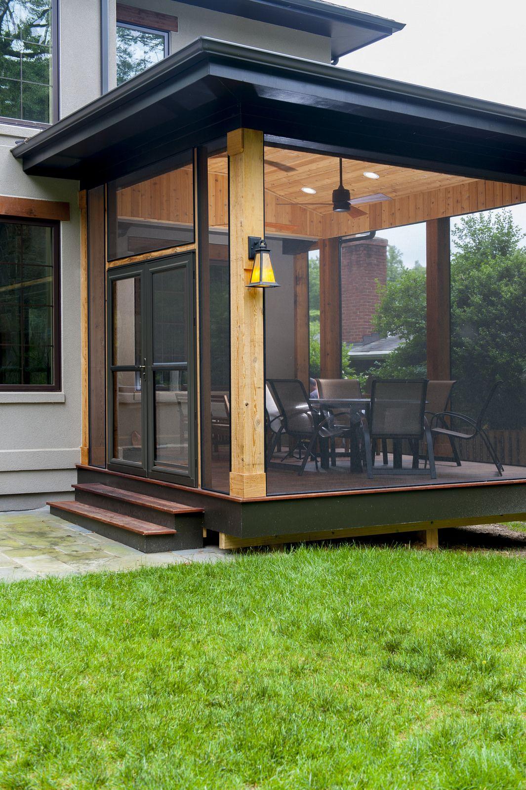 Unique Bethesda Screened Porch Building A Porch Patio