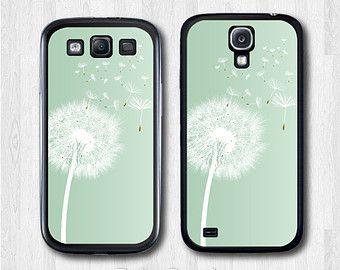 Samsung Galaxy S4 case, Galaxy S3 case - Mint Dandelion - Galaxy s4 cover, Galaxy s3 cover