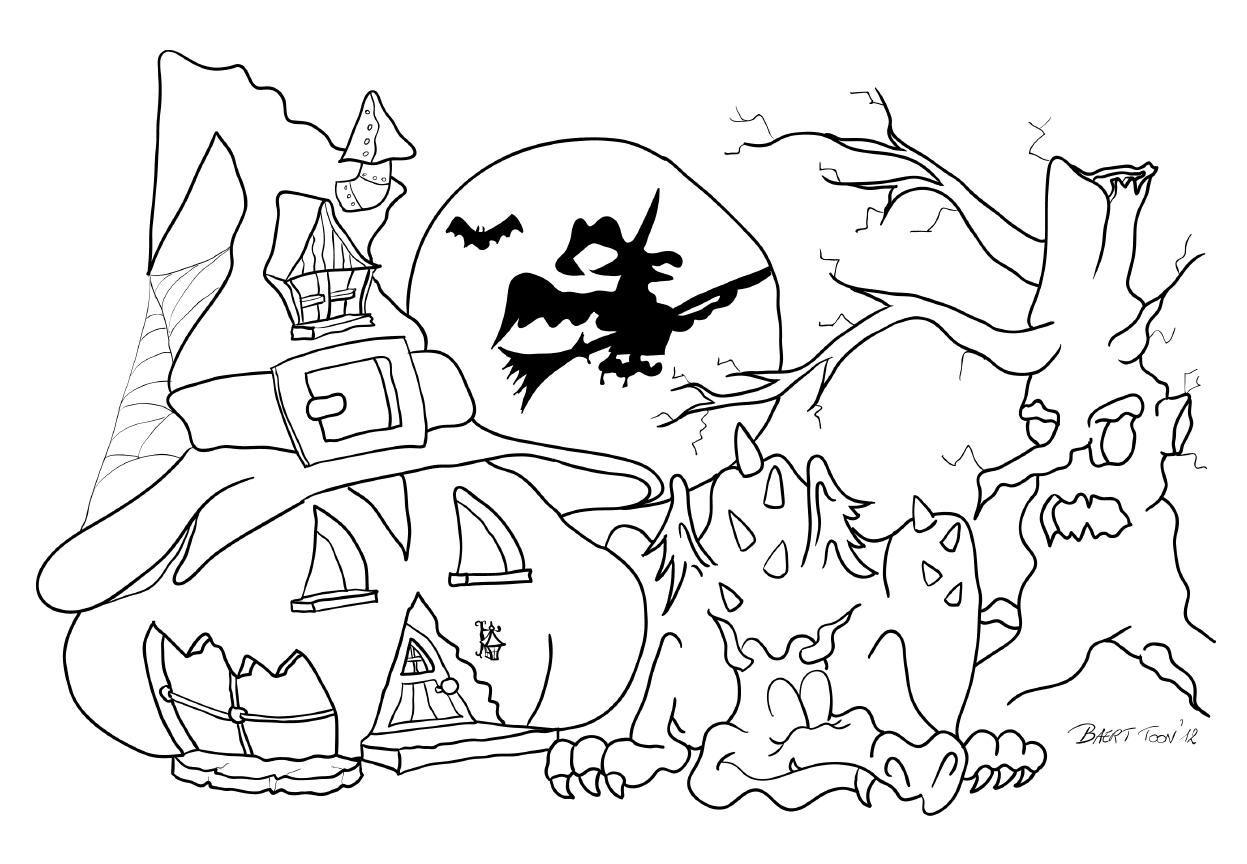 Kleurplaat Halloween Libelle Kleurplaten Halloween Kleurplaten Voor Kinderen