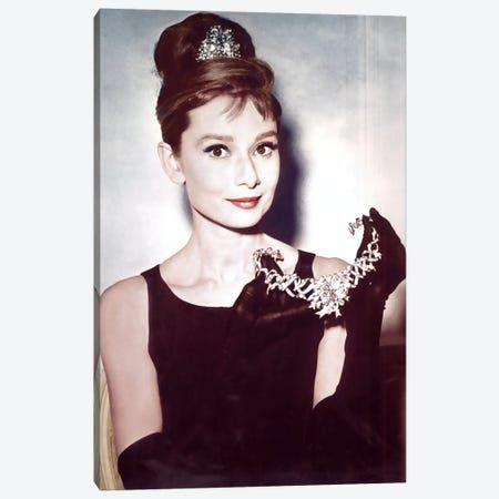 21+ Audrey Hepburn Showing Necklace Art Print by Radio Days   iCanvas