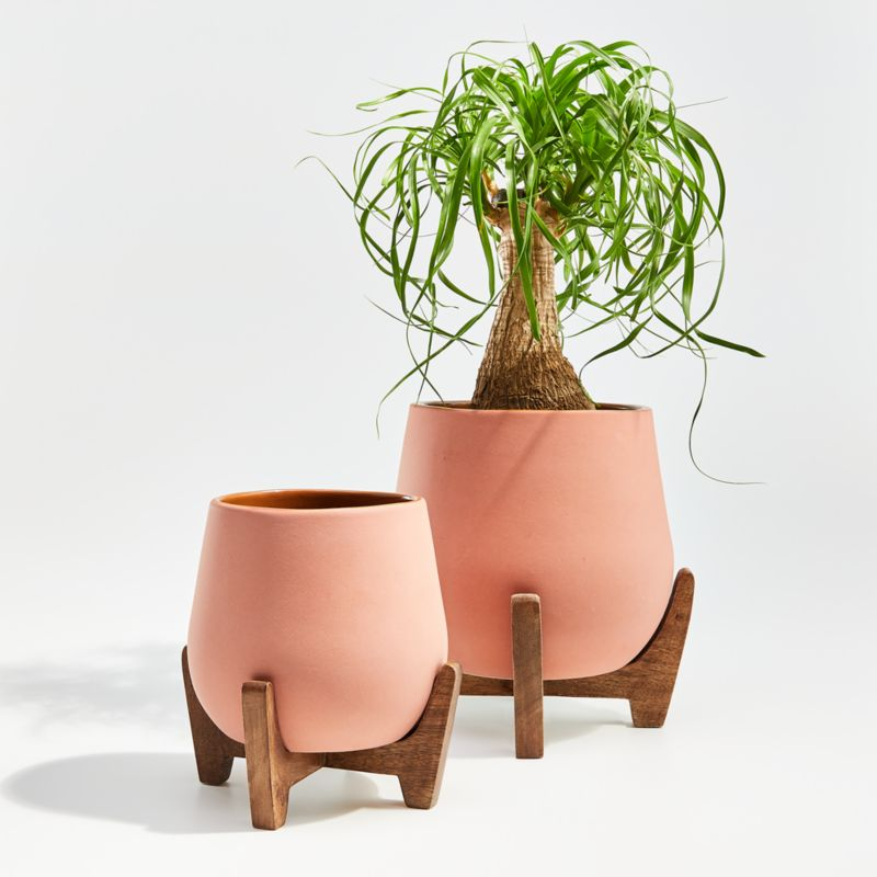 Evie Planters With Stands Crate And Barrel In 2020 400 x 300
