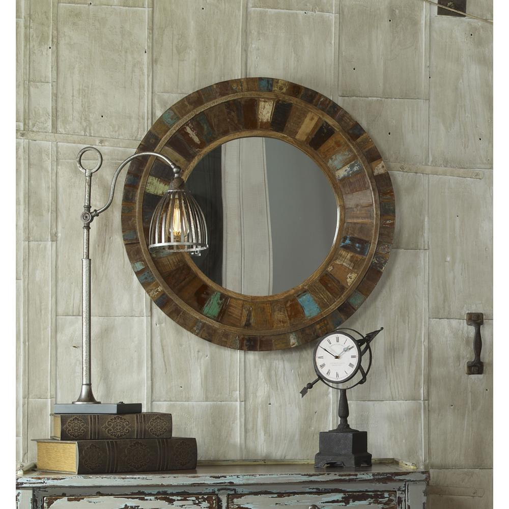 global direct 32 in x 32 in reclaimed wood framed mirror mirrors rh pinterest com