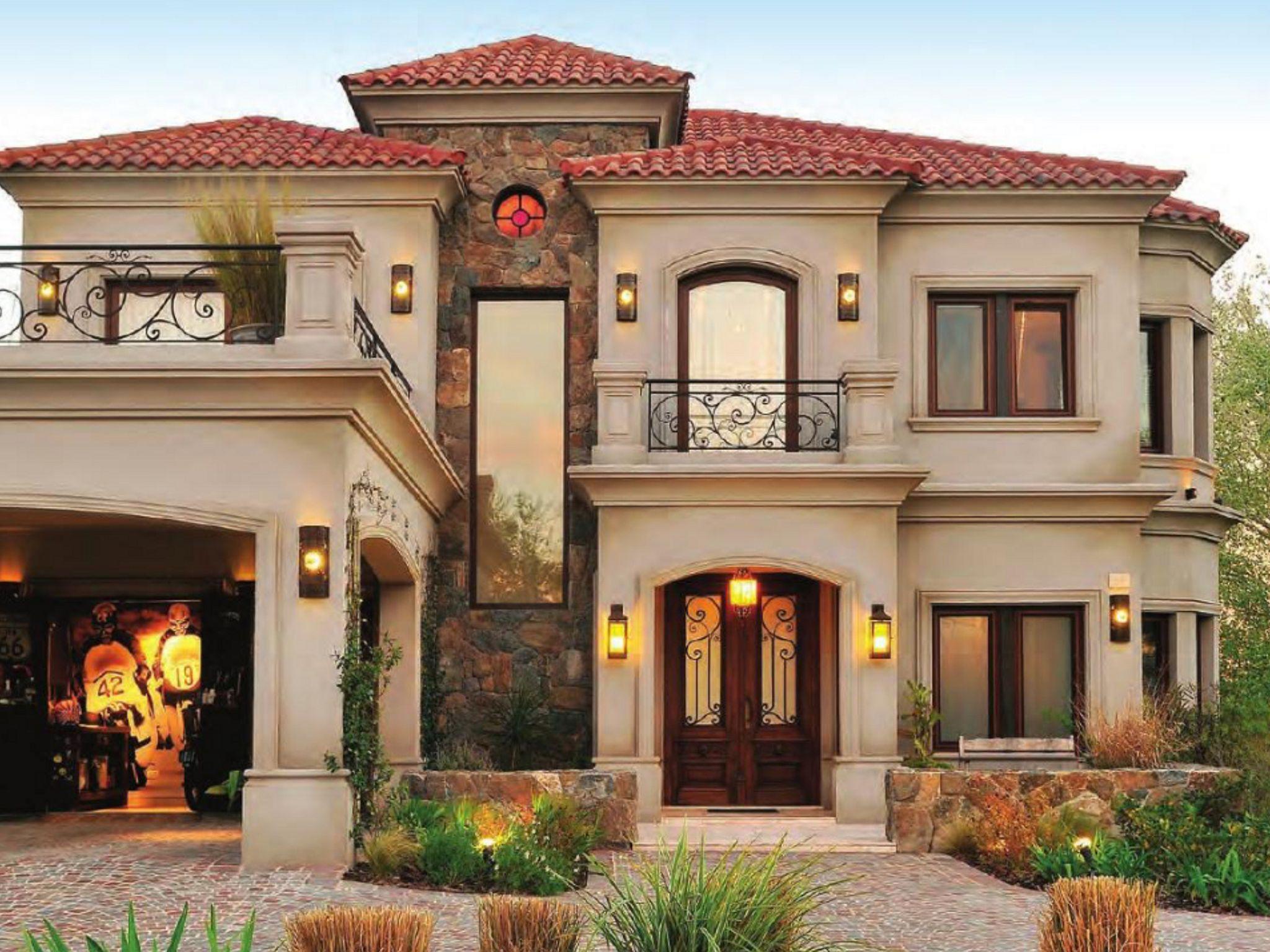 Big Houses Exterior, Simple House Exterior, Luxury Homes Exterior, Garage  Exterior, Stucco