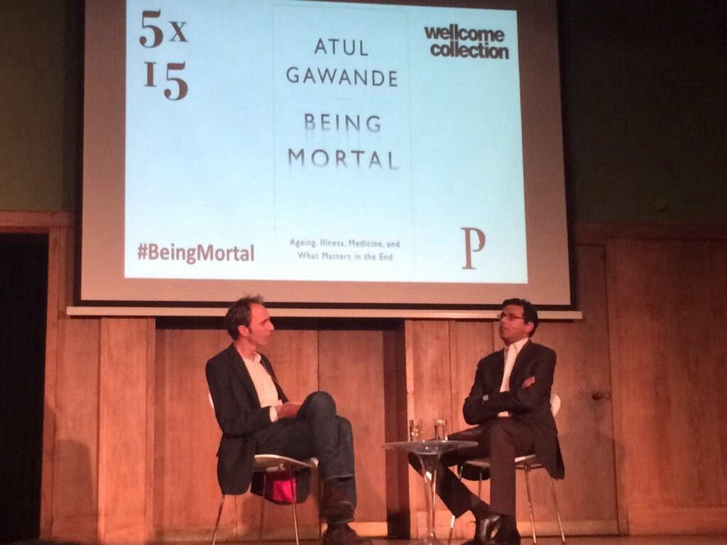 Our amazing chair, Atul Gawande, being interviewed by Will Self in London this week.