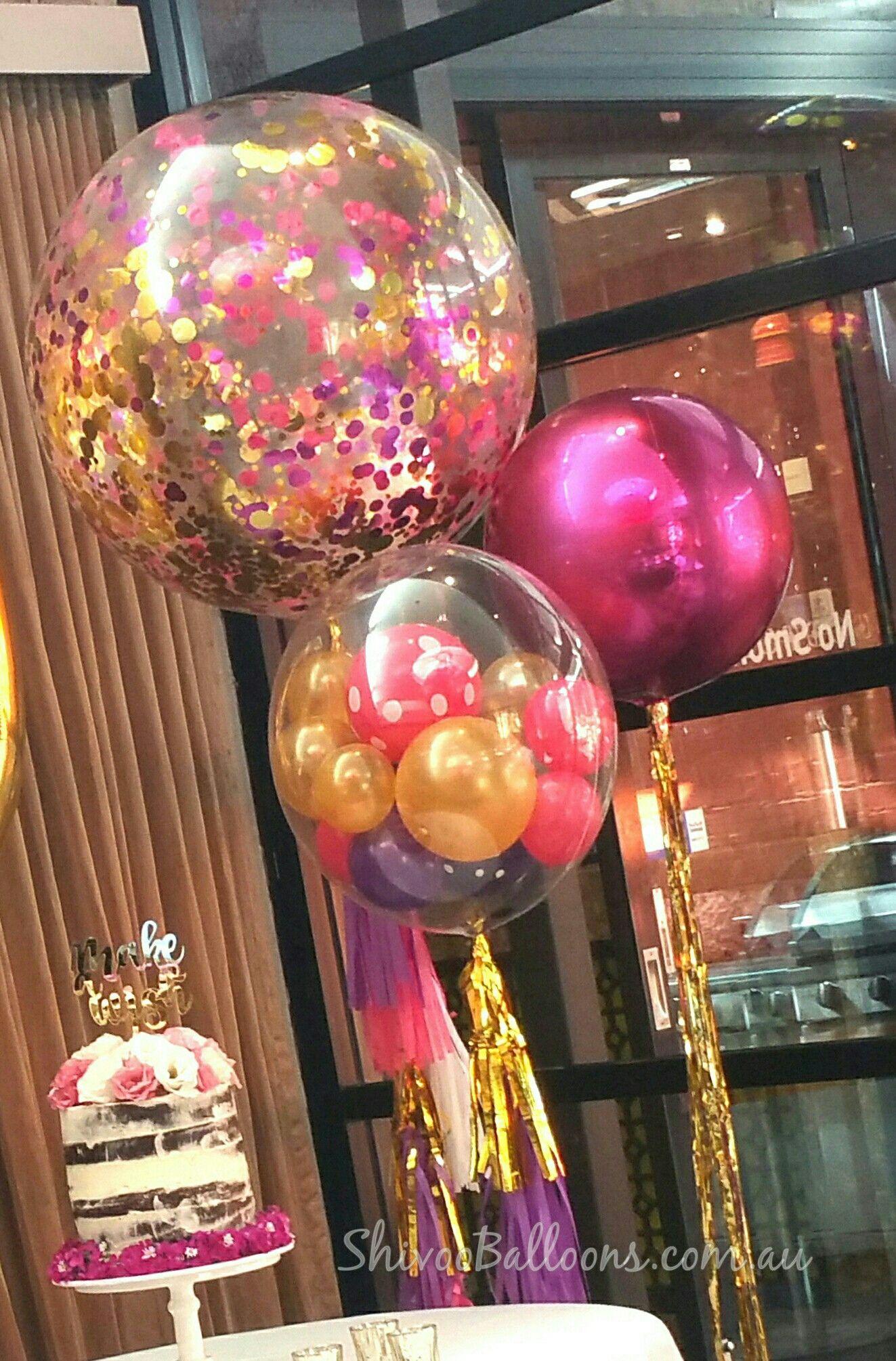 Confetti Balloons Bubble Balloons And Orbs Decoración De Fiesta Globos Para Fiestas Globos
