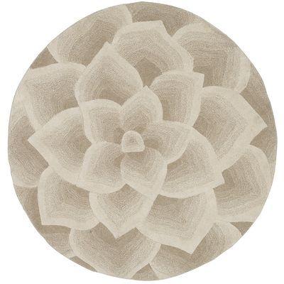 Rose Tufted Ivory Round Rug