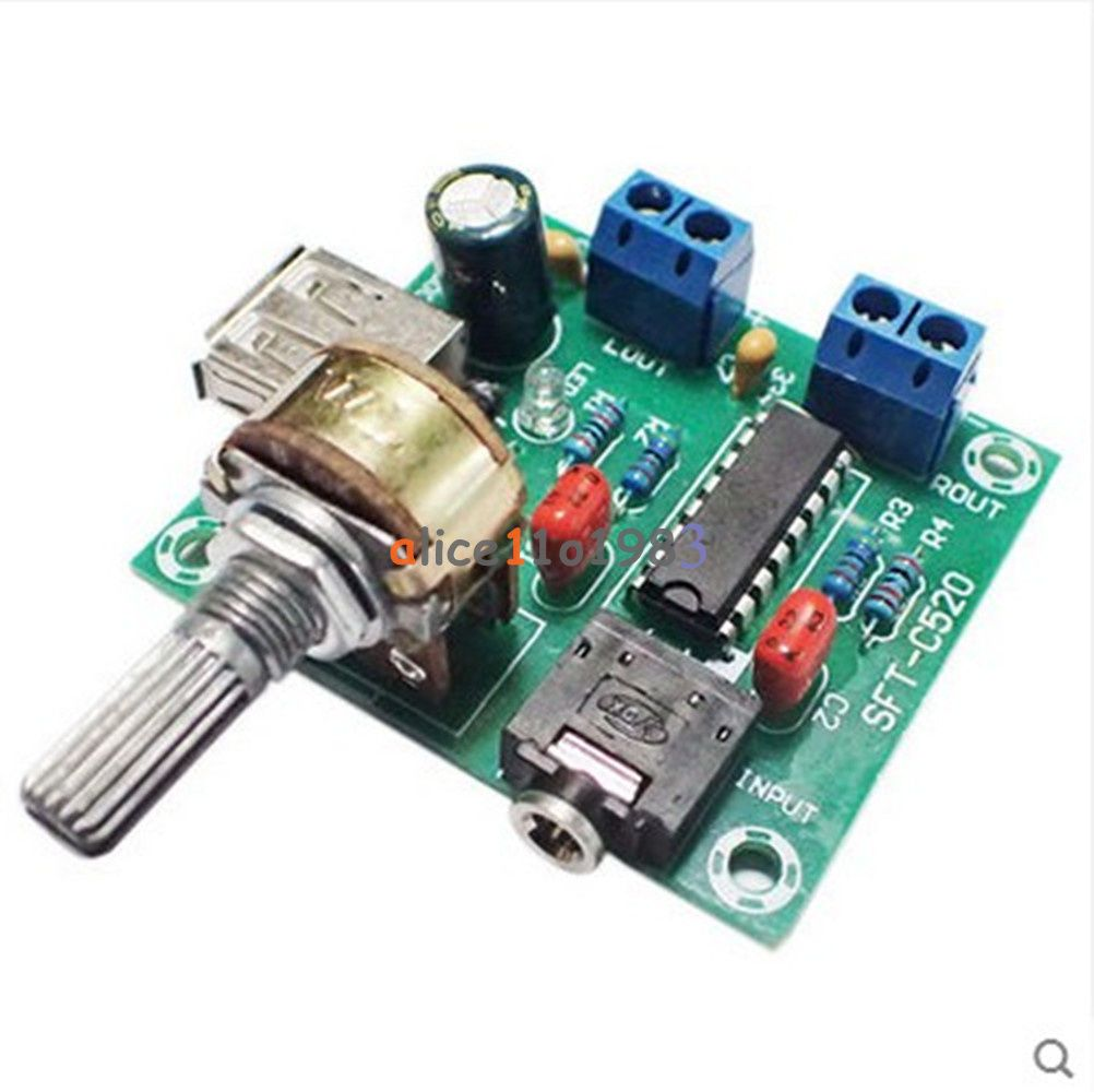 Lm386 Audio Power Amplifier Board Dc 312v 5v Amp Module A 23w Dual Circuit Pm2038 Track 5wx2 5w Usb Supply 2