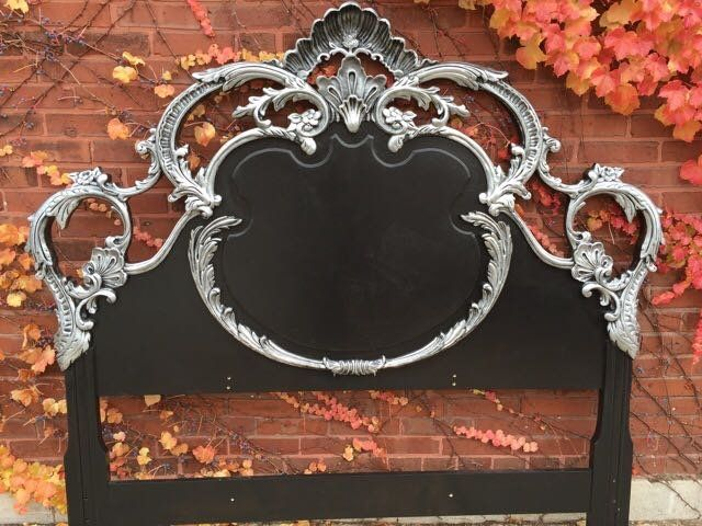 Gothic queen headboard | Antique painted furniture, Furniture ...