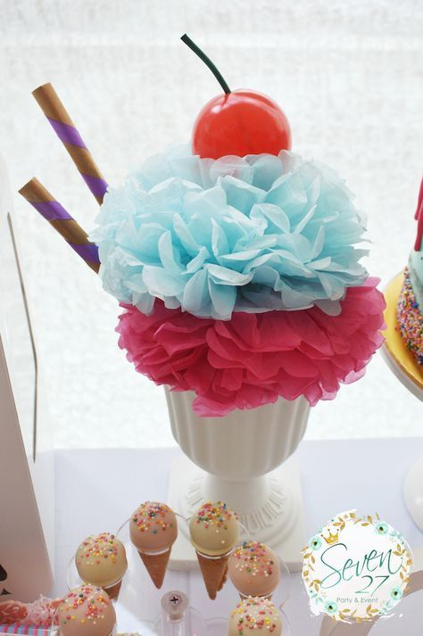 Girly Ice Cream Birthday Party #icecreambirthdayparty