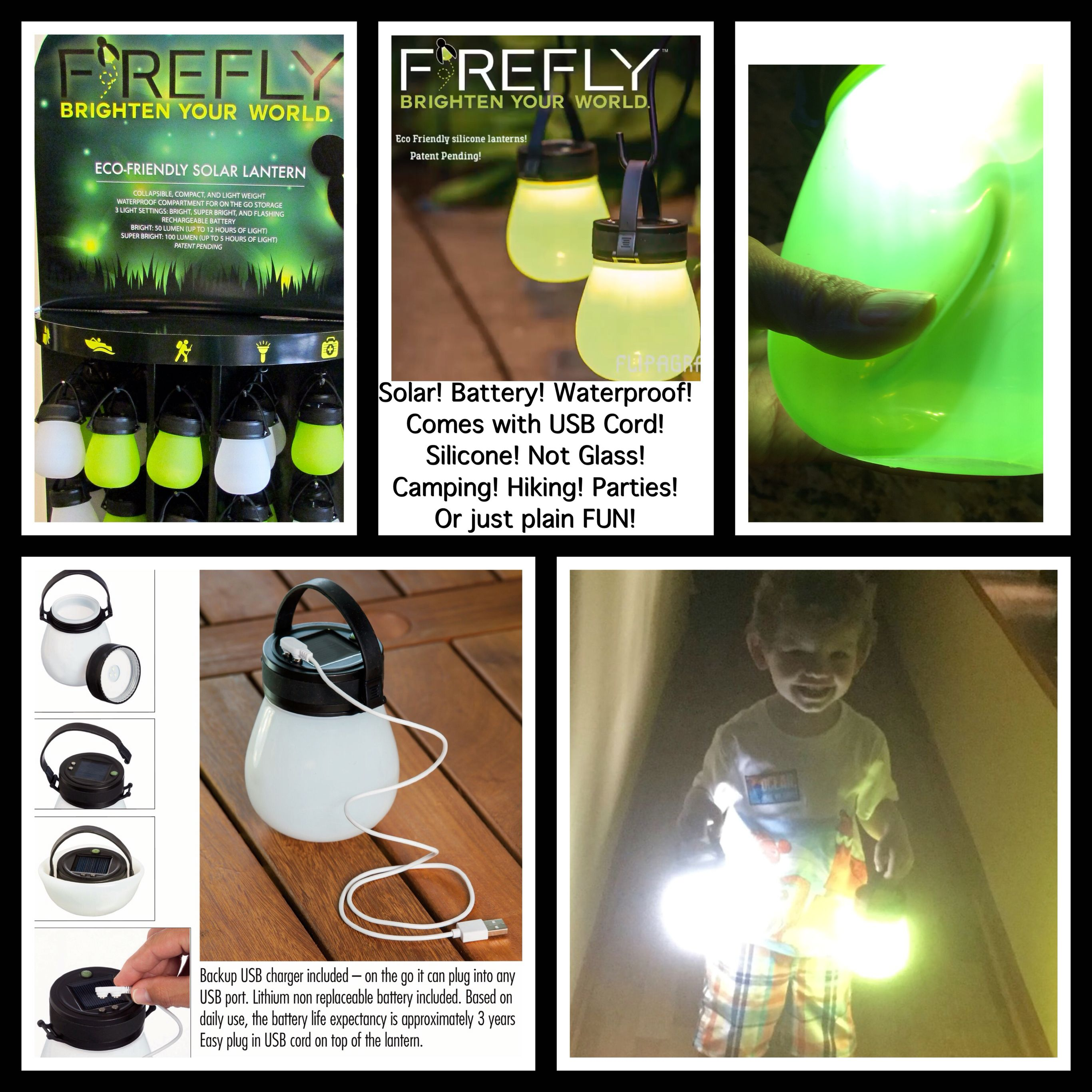 firefly silicone solar lanterns by evergreen enterprises